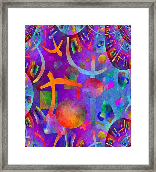 Abstract Fractillious - Episode One  Southwestern Framed Print
