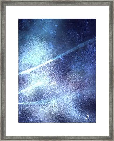 Abstract Frozen Glass Framed Print