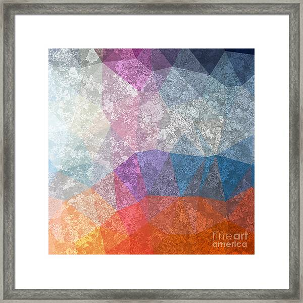 Abstract Futuristic Art Background Framed Print