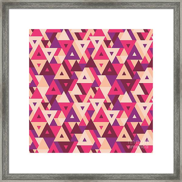Abstract Geometric Background - Framed Print