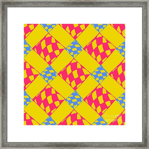 Abstract Geometric Colorful Seamless Framed Print