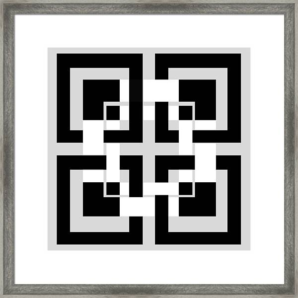 Abstract Geometric  Framed Print