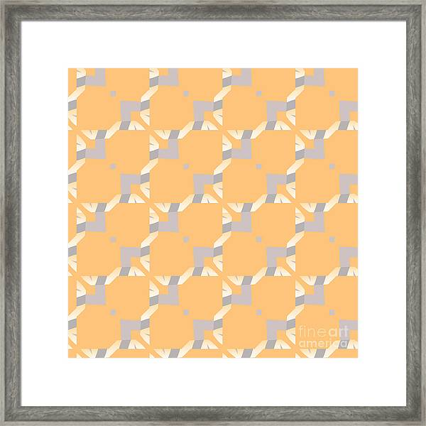 Abstract Geometric Pattern. Vector Framed Print