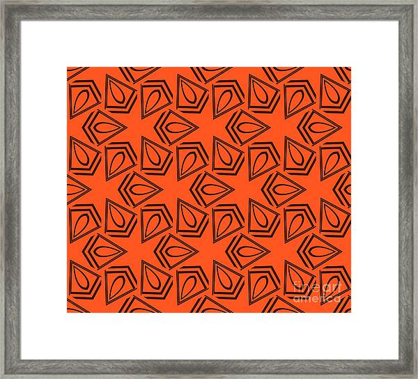 Abstract Geometric Seamless Pattern Framed Print