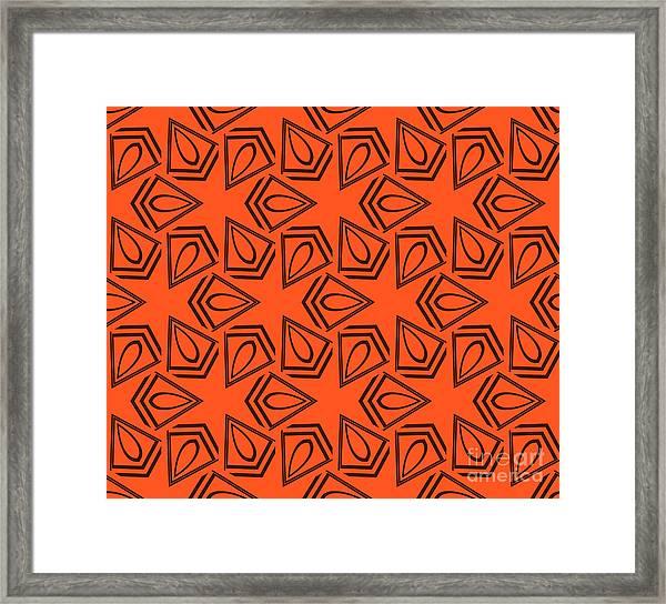 Abstract Geometric Seamless Pattern Framed Print by Alexander Rakov