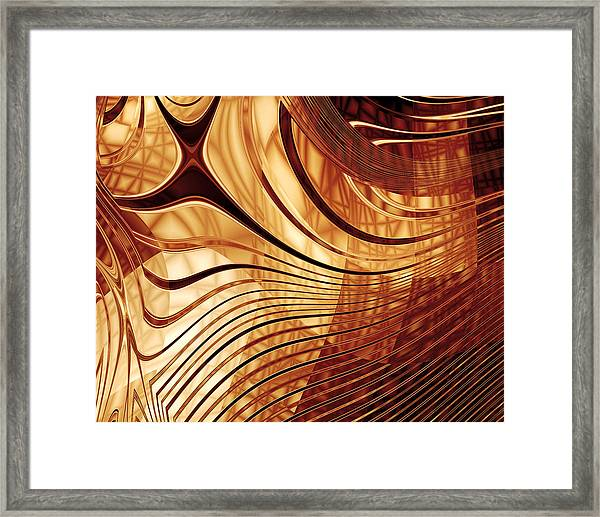 Abstract Gold 2 Framed Print