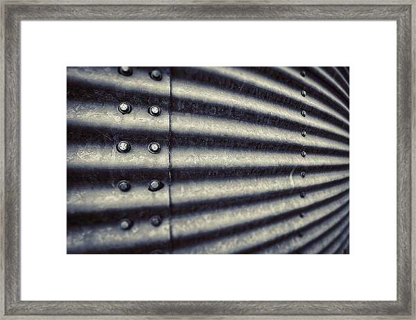Abstract Grain Silo Framed Print by Thomas Zimmerman