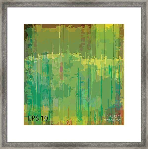 Abstract Grunge Scratched Texture Framed Print