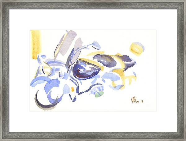 Abstract Motorcycle Framed Print