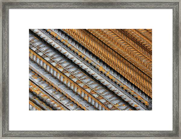 Abstract Metal Texture Pattern Framed Print