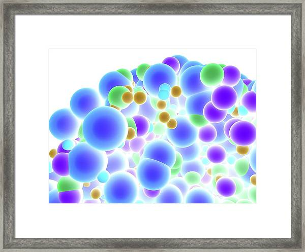Abstract Molecule Framed Print