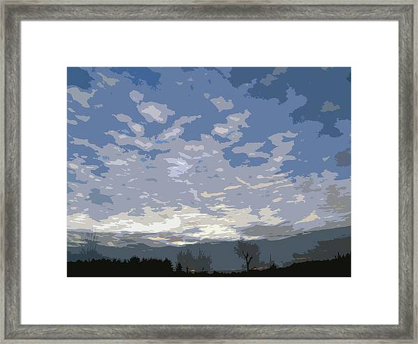 Abstract New Day Framed Print