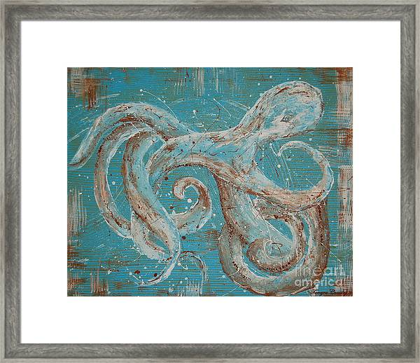 Abstract Octopus Framed Print