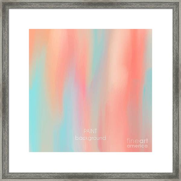 Abstract Oil Painting Texture. Hand Framed Print