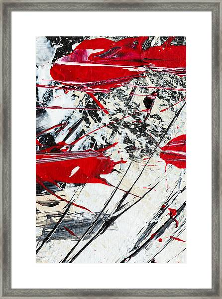 Abstract Original Painting Untitled Ten Framed Print
