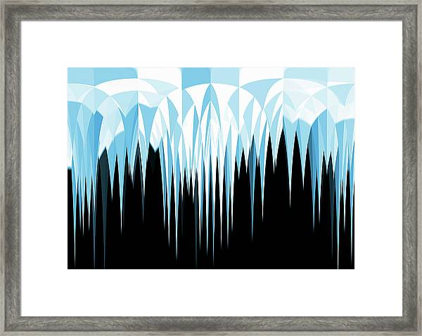 Abstract Pointed Icicles Framed Print