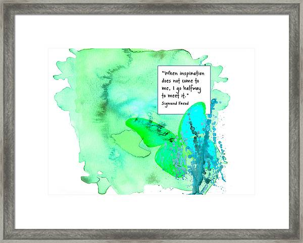 Abstract Quote 1 Framed Print