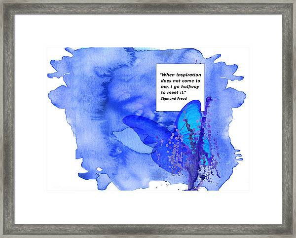 Abstract Quote 2 Framed Print