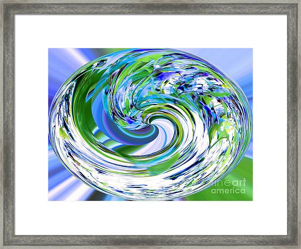 Abstract Reflections Digital Art #3 Framed Print