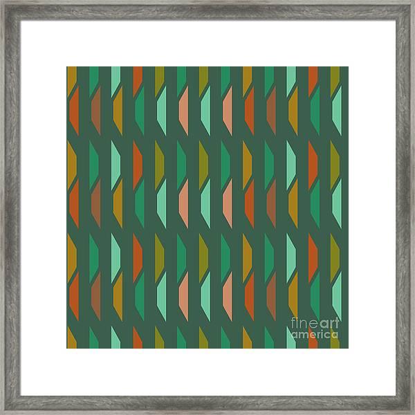 Abstract Retro Pattern.vector Framed Print