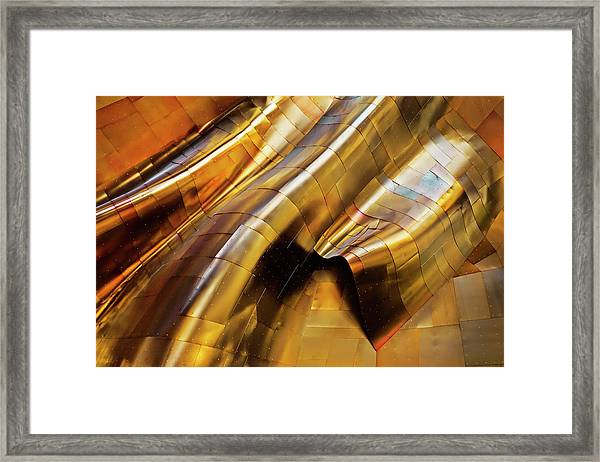 Abstract Steel Framed Print