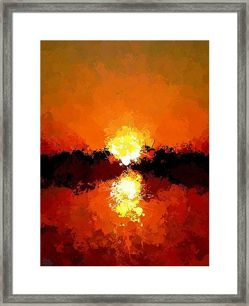 Abstract Sunset On The Sea Framed Print