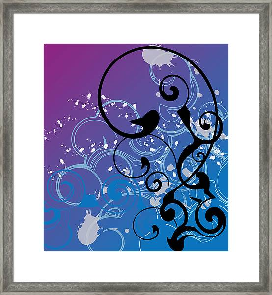 Abstract Swirl Framed Print