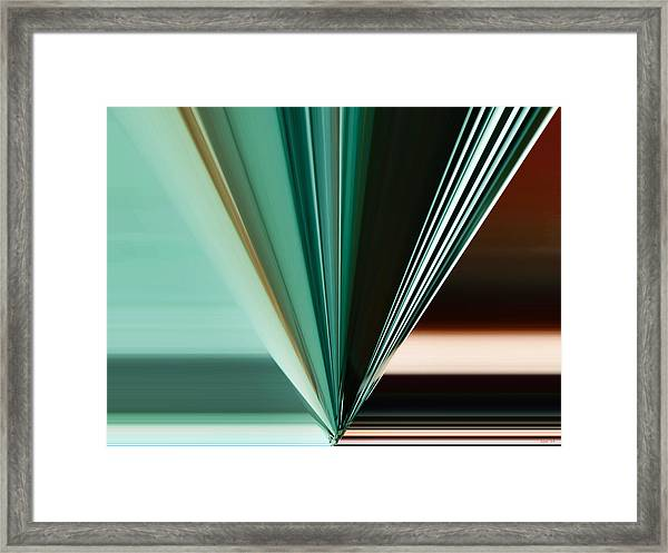 Abstract - Teal - Aqua - Five Framed Print