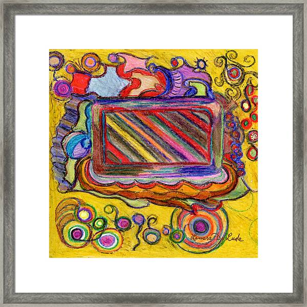 Abstract Television And Shapes Framed Print