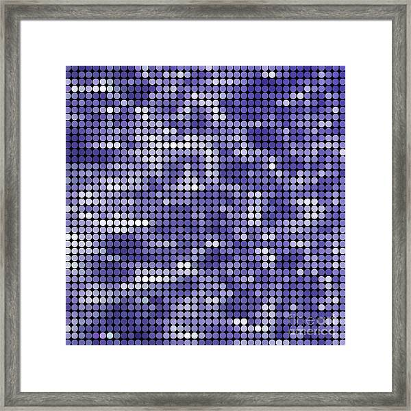 Abstract Vector Colored Round Dots Framed Print