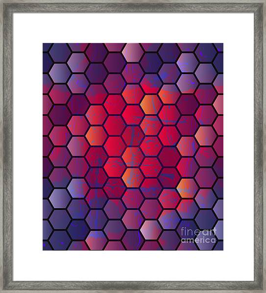 Abstract Vector Geometric Background Framed Print