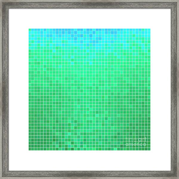 Abstract Vector Square Pixel Mosaic Framed Print