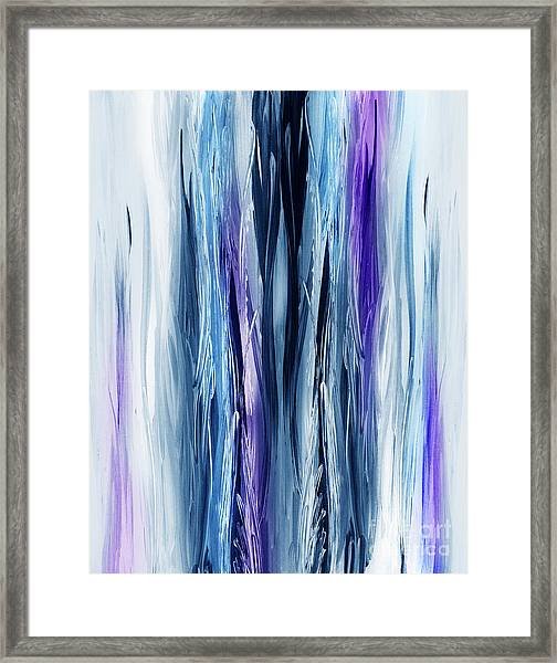 Abstract Waterfall Purple Flow Framed Print