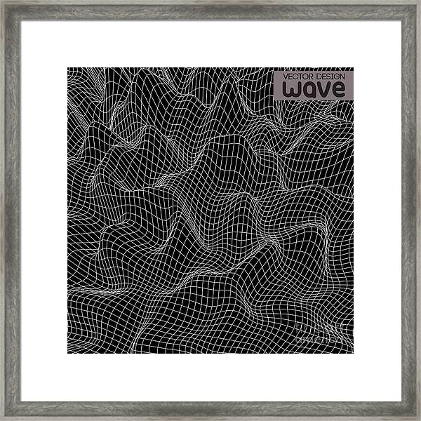 Abstract Wave Background. Vector Design Framed Print