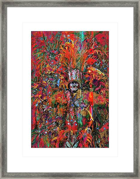 Abstracted Mummer Framed Print