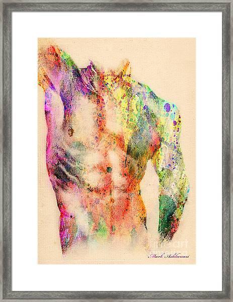 Abstractiv Body  Framed Print