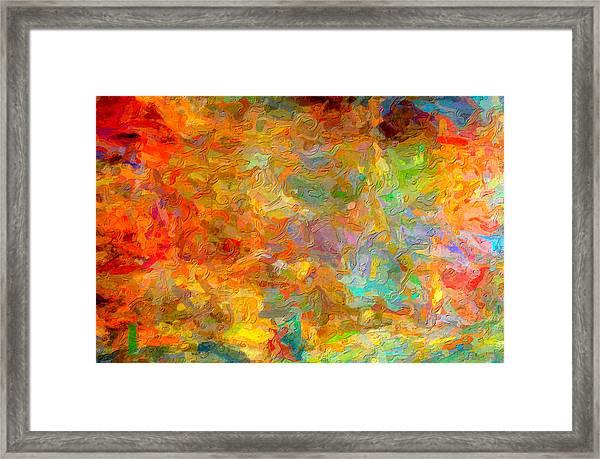 Abstracto Impasto Framed Print