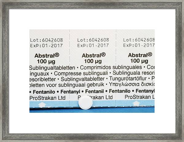 Abstral Painkiller Drug Framed Print by Dr P. Marazzi/science Photo Library