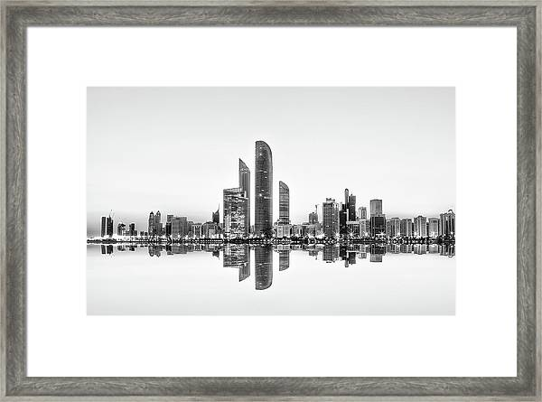 Abu Dhabi Urban Reflection Framed Print