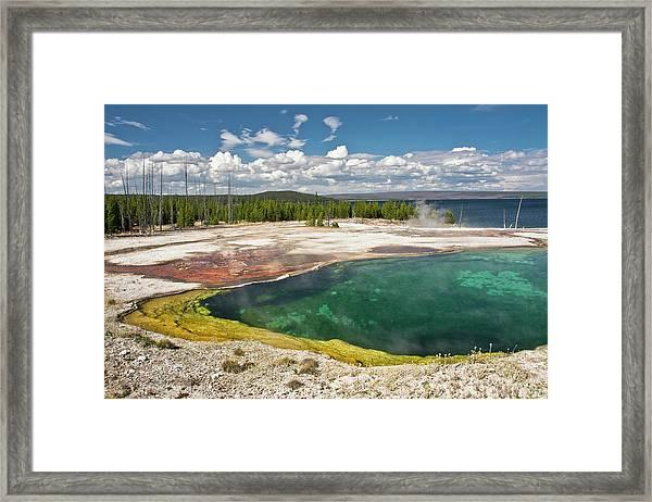 Abyss Pool, West Thumb Geyser Basin Framed Print