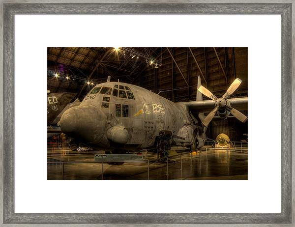 Ac-130 Gunship Framed Print