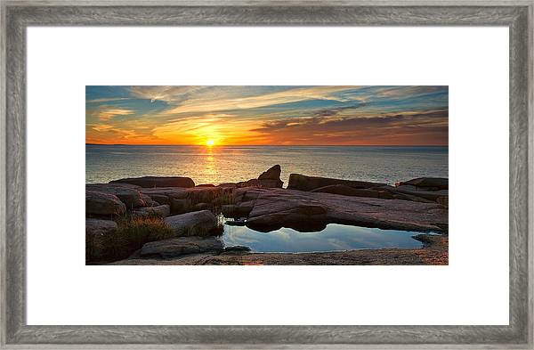 Acadia Sunrise Framed Print