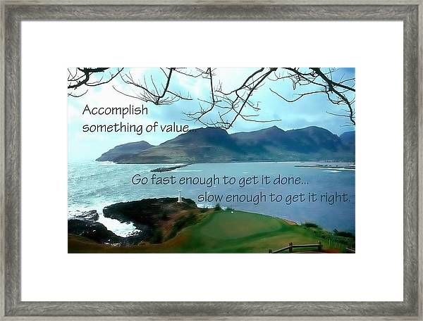 Accomplish Value 21168 Framed Print