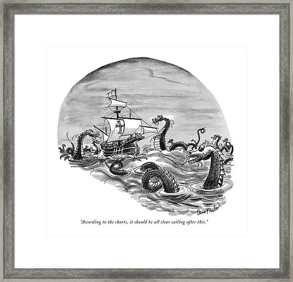According To The Charts Framed Print