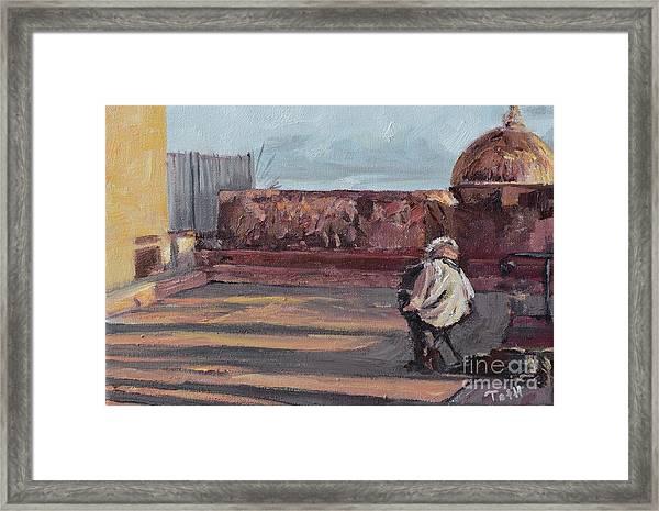 Accordion Man Of Old San Juan Framed Print