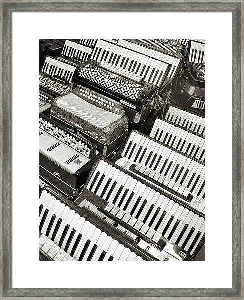 Accordions Framed Print