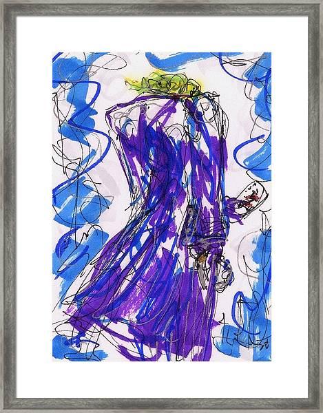 Aceo Joker V Framed Print