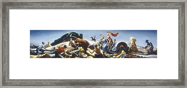 Achelous And Hercules Framed Print