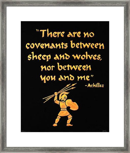 Achilles Admonition Framed Print