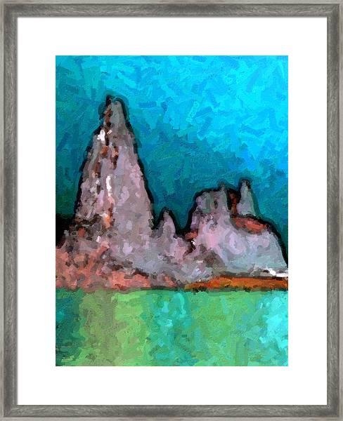 Acid Lake Framed Print